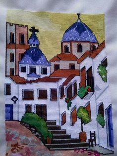The Art of the cross-stitch by Marcelina Garcia from Spain Cross Stitch Designs, Cross Stitch Patterns, Cross Stitch Embroidery, Hand Embroidery, Crochet Woman, Bargello, Knitting Needles, Needlepoint, Needlework