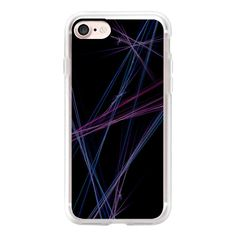 Purple Blue Streak - iPhone 7 Case, iPhone 7 Plus Case, iPhone 7... ($40) ❤ liked on Polyvore featuring home, bed & bath, bedding, bed sheets, iphone case, purple bedding, blue bedding and purple bed linen