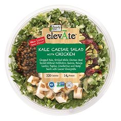 Ready Pac Elevate Organic Salad, Kale Caesar Salad with Chicken, oz: New, Convenient, Restaurant Style Ready- to -Eat Fresh Salad with Savory Toppings. Salad Packaging, Food Box Packaging, Gourmet Recipes, Healthy Recipes, Kale Caesar Salad, Salad Kits, Organic Chicken, Meat Chickens, New Flavour