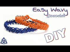 Wavy Macrame Bracelet with Beads Tutorial Dawn Hickmon Macrame Bracelet Patterns, Macrame Bracelet Tutorial, Macrame Earrings, Crochet Bracelet, Macrame Jewelry, Macrame Bracelets, Beads Tutorial, Flower Tutorial, String Bracelets