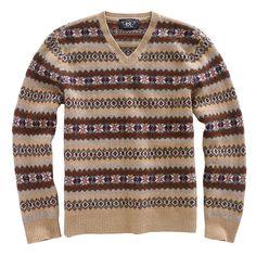 [RRL/フェアアイル Vネック セーター]アメカジ ファッション|ヴィンテージ ファッション|ジェイクルー