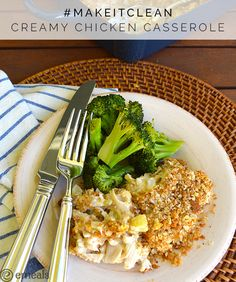 Clean Eating Creamy Chicken Casserole #makeitclean recipe challenge from eMeals