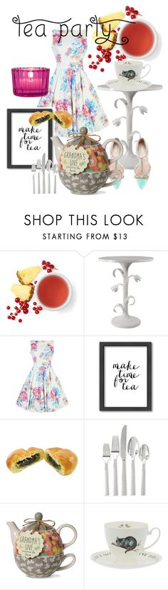 """""""tea ☕"""" by keepitrealforme ❤ liked on Polyvore featuring interior, interiors, interior design, home, home decor, interior decorating, Kate Spade, Americanflat, Cultural Intrigue and teaparty"""