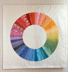 Awesome circle quilt, pattern in Last Minute Patchwork and Quilted Gifts from Purl Soho