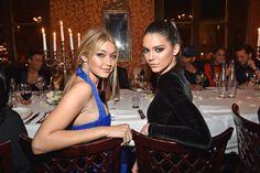 Gigi and Kendall at Paris Fashiin Week #dinnerpartygoals