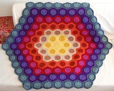 UnJardinDeHilo's Colourful Crochet Blanket