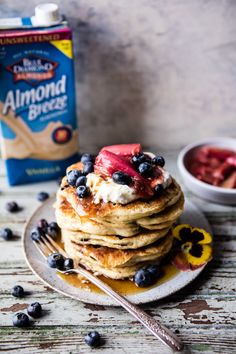 Blueberry Almond Pancakes   halfbakedharvest.com @hbharvest