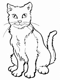 Coloring Pages Of Cat - Cat Coloring Pictures Cat Coloring Page, Disney Coloring Pages, Coloring Pages To Print, Animal Coloring Pages, Free Printable Coloring Pages, Free Coloring Pages, Coloring Books, Realistic Cat Drawing, Simple Cat Drawing