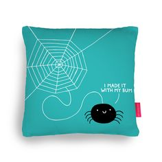 I Made It With My Bum Cushion #spider #charlottesspiderweb #spiderweb #spiderman #cushion #batchelorpad #funny #giftsforhim