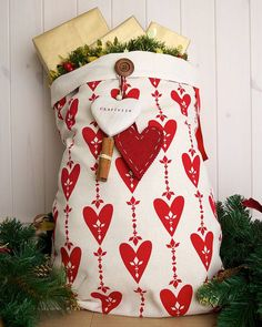 personalised love christmas santa sack by santa sacks | notonthehighstreet.com