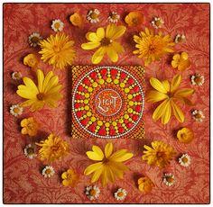 LIGHT mandala by Elspeth McLean  #yellowflowers #mandala #light #lightwithin #healing #uplifting #elspethmclean