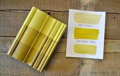 Chalk Paint® mix of 3 parts Cream & 1 part English Yellow with clear wax, tinted wax, and dark wax. Follow Green Table Gifts on Facebook for Mixology Monday! #chalkpaint #colormix #yellow