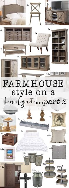 Check out all these amazing furniture and home decor pieces FURNITURE ALL UNDER $300...most WAY UNDER $300. So many great Farmhouse Finds from @walmart. Check out how to get Farmhouse Style on a Budget. #Walmart #ad