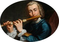 Portrait of a Young Musician Playing a Flute by Gaspare Traversi