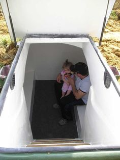 Fiberglass Underground Shelters for Sale | ... practice a safety drill in a newly installed Integrity Storm Shelter
