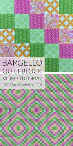 Video tutorial: Bargello quilt block - tube quilting