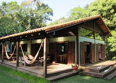 Quality over Quantity. Modern Vacation Home Rentals for Design Lovers. Very small hotels, simple luxury villas, cabins, beach house rental and holiday lettings. Tropical House Design, Tropical Houses, Rest House, Bamboo House, Vacation Home Rentals, House Rentals, Boutique Homes, My Dream Home, Future House
