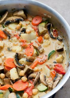 fresh summer vegetarian curry