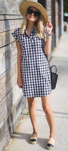 Ideas how to wear shirt dress casual simple Trendy Dresses, Simple Dresses, Cute Dresses, Casual Dresses, Summer Dresses, Simple Dress Casual, Casual Work Outfits, Work Casual, How To Wear Shirt