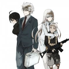 From left to right: Chiquita, Kasper, Koko, Jonah - Jormungand