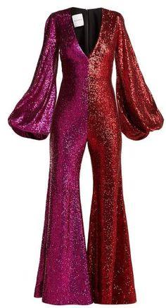 Sequinned bell-sleeve jumpsuit halpern matchesfashion us. Disco Jumpsuit, Sequin Jumpsuit, Jumpsuit Outfit, Gypsy Fashion, 70s Fashion, Fashion Outfits, Rave Outfits, Capsule Wardrobe, Forever21