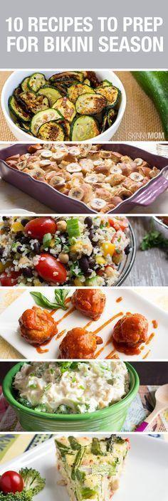 Healthy snacks and dinner recipes before bikini season.