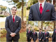 Red and Yellow North Carolina Wedding by Meet The Burks