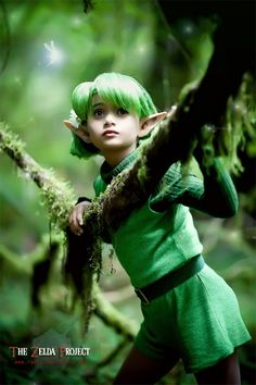 Saria in the Lost Woods.  I really hope I can put together an awesome cosplay just like this!!