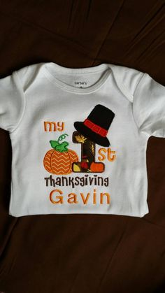 1c0759b07 Little Boy Names, Little Ones, Bodysuit Shirt, Baby Embroidery, Rainbow  Baby, Baby Outfits, Kids Outfits, Thanksgiving Ideas, Holiday Outfits