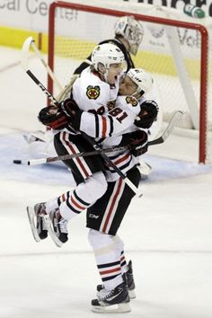 Speaking of hockey….Did you see this? Patrick Kane to Marian Hossa clinches win for Chicago Blackhawks.