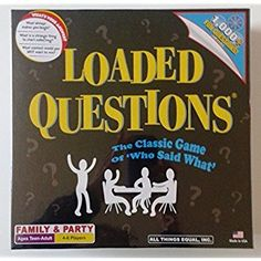 £25 Loaded Questions: The Classic Game of Who Said What Amazon.co.uk: Toys & Games