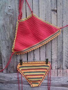 uncinetto bikini rosso Giamaica  bikini di GoodMoodCreations