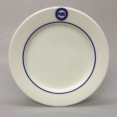 "Vintage Pure Oil Company USA Jackson China 9"" Dinner Plate Restaurant Ware 