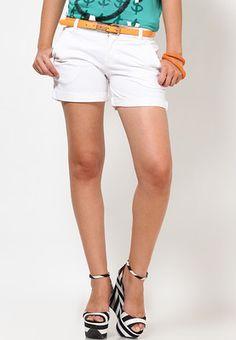 Plain White Summer Shorts  Price: Rs 1699