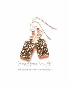Gold Floating Lotus Flower Earrings  Lotus by BrattonCraft on Etsy