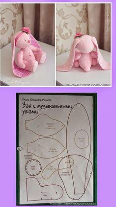 Minha Casinha Rosa: Coelhinha com molde.