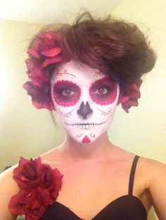 Best of costumes & make-up 2012 - Imgur - Love this sugar-skull look!