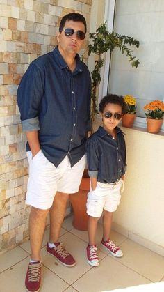 Matching dad and son Father And Baby, Daddy And Son, Twin Outfits, Matching Family Outfits, Toddler Fashion, Boy Fashion, Estilo Fashion, Stylish Kids, Baby Boy