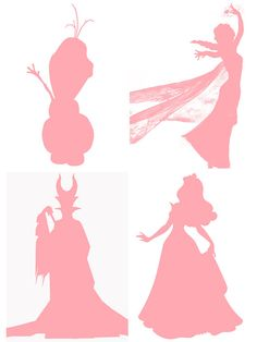 DIYDisney Frozen/Maleficent Silhouettes  by DaydreamDesignsDigi, $5.00