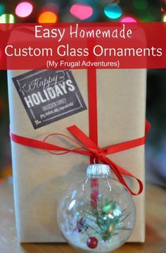 Homemade Custom Christmas Ornaments. So easy to make with things you already have on hand.