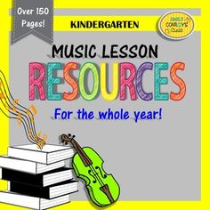 Music Resources (Kindergarten) contains over 150 pages of resources for kindergarten music students for the whole year! This product was designed to be paired with my Elementary Music Lesson Plans product.