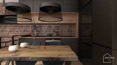 Forest House, Decoration, Kitchen Design, New Homes, Ceiling Lights, Interior Design, Architecture, Modern, Table