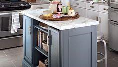 Maximize Kitchen Space and Style; DIY kitchen island (Lowe's magazine)