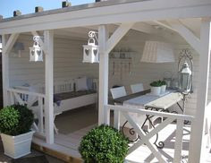 Do you want to have a design gazebo in your garden? We offer perfect gazebo decors for you. the most beautiful arbor of your home garden, pool, you can make your life more beautiful. these gazebos are made of wood and are very healthy. Outdoor Rooms, Outdoor Living, Outdoor Decor, Outdoor Sheds, Outdoor Seating, Gazebo Decorations, Gazebos, Outside Living, Country Style Homes