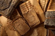 """poeticislam: """" Old Islamic manuscripts found in Timbuktu. Photograph by Brent Stirton """""""