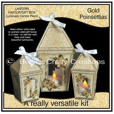 - These versatile kits allow you to make either solid sided or acetate sided gift boxes in two sizes. The smaller box is an . Christmas Bags, Christmas Crafts, Christmas Ornaments, Craft Projects, Projects To Try, Craft Ideas, Fun Crafts, Paper Crafts, Centre Pieces