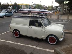 My first car was a Mini van no surf board though