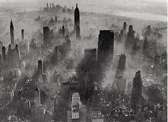 Smog over Manhattan, 1943. Photo by Andreas Feininger.