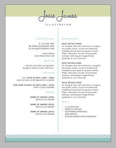 classic and professional resume 2 pages word resume cv