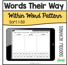 Seesaw Activities - Words Their Way - Within Word Pattern - Sort 1-50 - Digital Resource - Paperless Classroom - Seesaw App - Seesaw Ideas